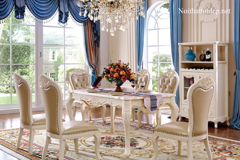 10+ mẫu bàn ăn cổ điển chuẩn phong cách hoàng gia-10
