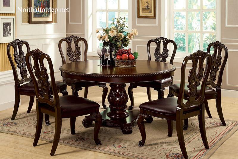10+ mẫu bàn ăn cổ điển chuẩn phong cách hoàng gia-2