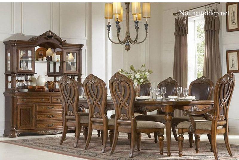 10+ mẫu bàn ăn cổ điển chuẩn phong cách hoàng gia-4
