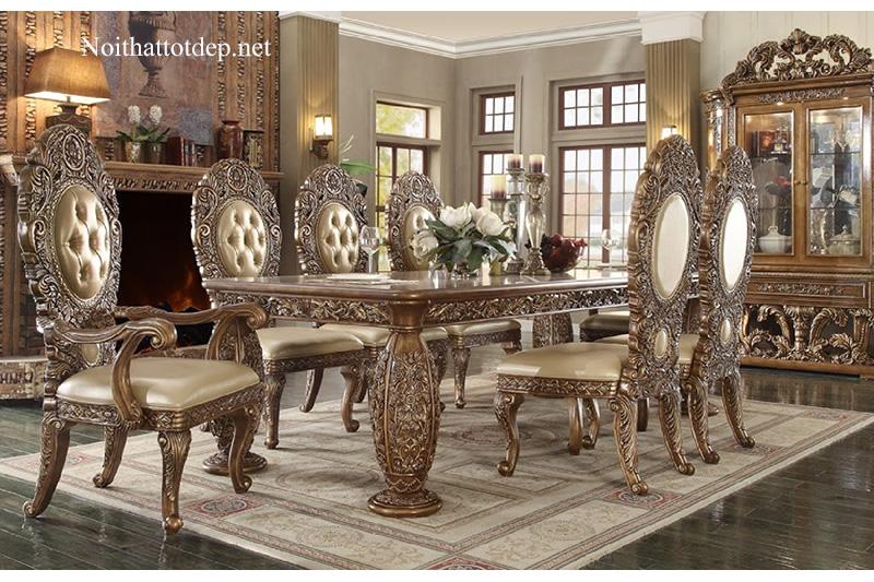 10+ mẫu bàn ăn cổ điển chuẩn phong cách hoàng gia-5