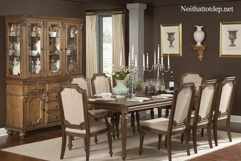 10+ mẫu bàn ăn cổ điển chuẩn phong cách hoàng gia-7