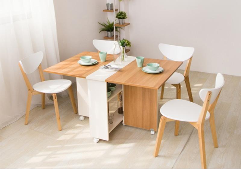 Tổng hợp những mẫu bàn ăn thông minh gấp gọn giá rẻ 2021