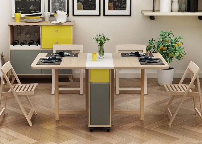 Mẫu bàn ăn thông minh gỗ Sồi siêu HOT nhập khẩu từ châu Âu-6