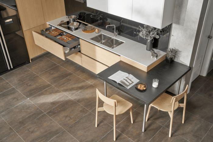 Mẫu bàn ăn thông minh gỗ tự nhiên HOT nhất hiện nay-4