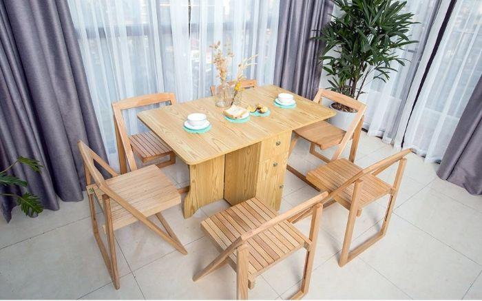 Mẫu bàn ăn thông minh gỗ tự nhiên HOT nhất hiện nay-5