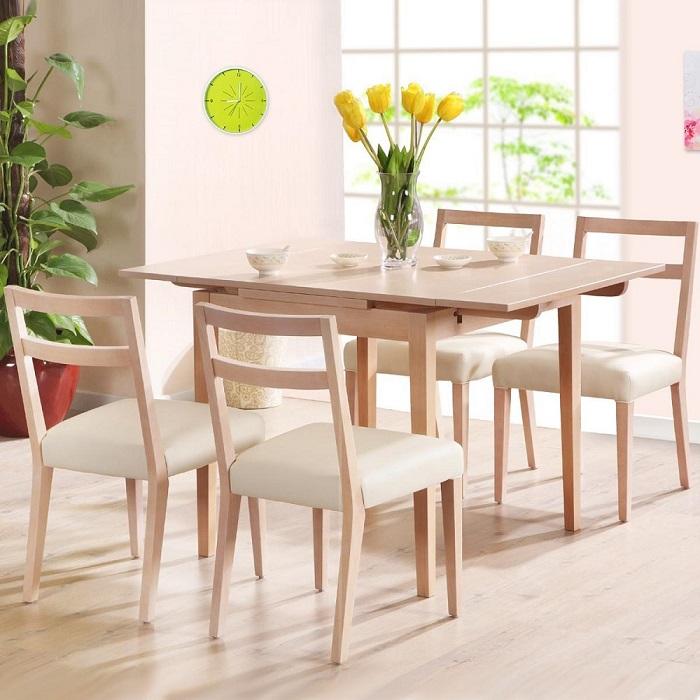 Những mẫu bàn ăn 4 ghế cho gia đình mới nhất năm 2020-2