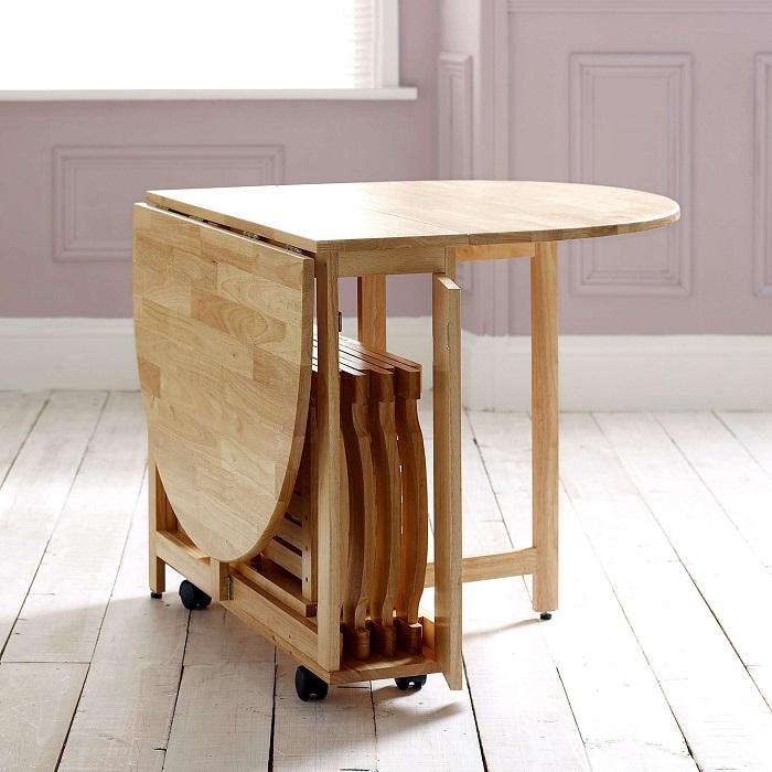 Bật mí 3 mẫu bàn ăn nhỏ gọn giá rẻ và đẹp cho căn hộ nhỏ-3