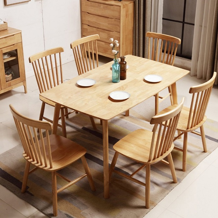 Vì sao bàn ăn gỗ cao su được các gia đình yêu thích-3