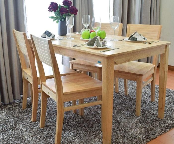Vì sao bàn ăn gỗ cao su được các gia đình yêu thích-5