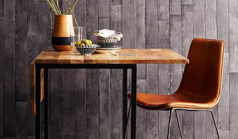 Khi chọn bàn ăn chung cư nhỏ, bạn nên chọn những chiếc bàn có kích thước nhỏ và ưu tiên các bộ bàn thông minh có thể kéo dài hoặc gắn trực tiếp lên tường-1