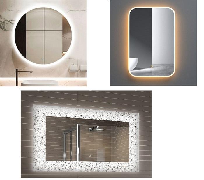 Gương phòng tắm đèn led với những ý tưởng độc đáo-1