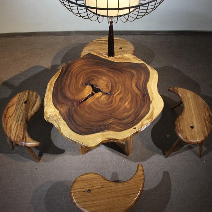 Vì sao bạn nên chọn mua bàn tròn gỗ tự nhiên-8
