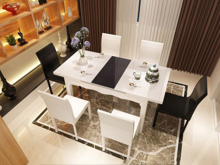 Cách bố trí bàn ăn cho không gian bếp nhỏ nhìn là mê-2