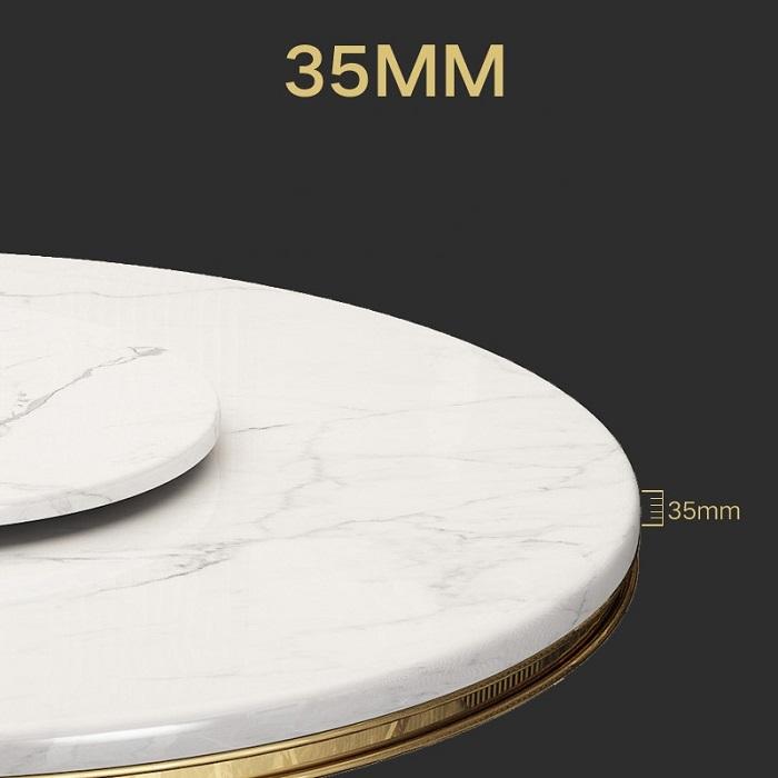 4 Sự thật khó tin về bàn ăn tròn xoay mặt đá AG86