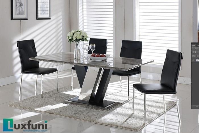 6 bộ bàn ăn 4 ghế mặt đá đẹp trang nhã, giá phải chăng-3