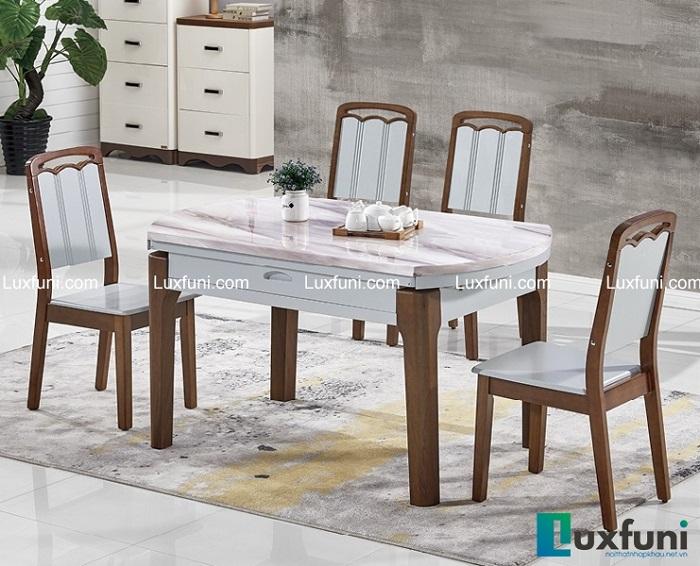 6 bộ bàn ăn 4 ghế mặt đá đẹp trang nhã, giá phải chăng-4