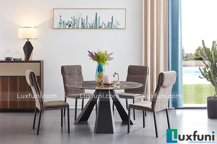 6 bộ bàn ăn 4 ghế mặt đá đẹp trang nhã, giá phải chăng-5