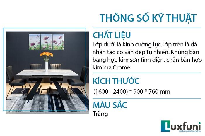 Giới thiệu chi tiết bộ bàn ăn thông minh mặt đá T839-1