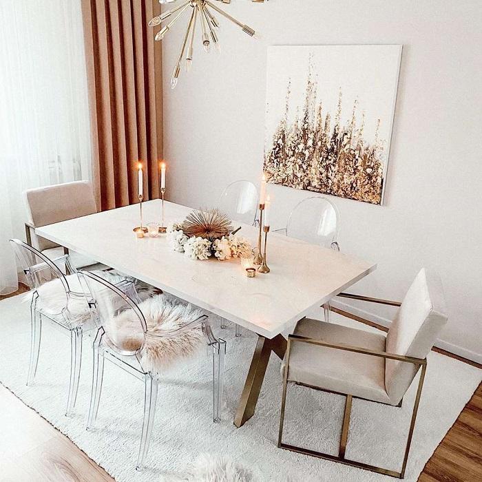 Mách bạn cách trang trí bàn ăn gia đình đẹp mà đơn giản-19