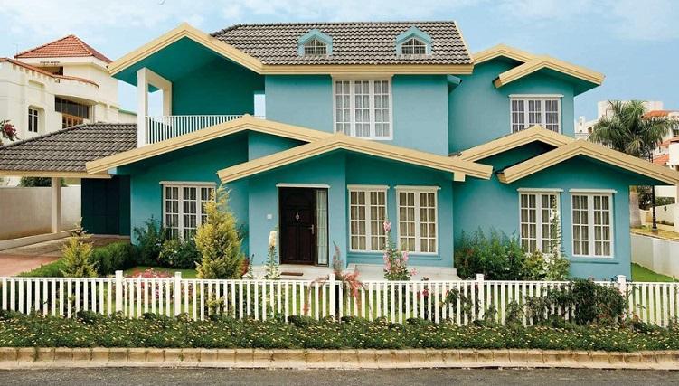 Cách phối màu sơn ngoài nhà đẹp ấn tượng-1