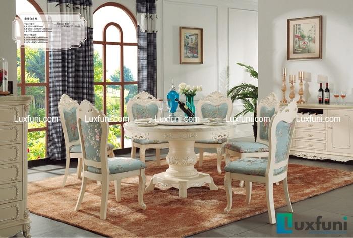 Chiêm ngưỡng 5 bộ bàn ăn 6 ghế mặt đá đẹp ấn tượng-3