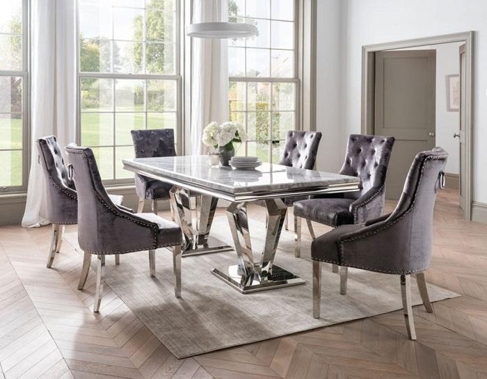 Chiêm ngưỡng 5 bộ bàn ăn 6 ghế mặt đá đẹp ấn tượng-4