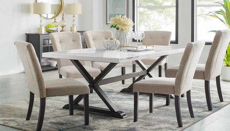Chiêm ngưỡng 5 bộ bàn ăn 6 ghế mặt đá đẹp ấn tượng-5