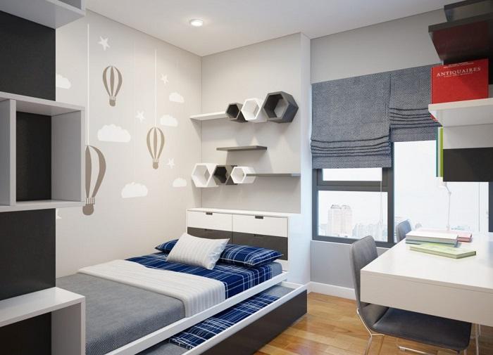 Thiết kế đồ nội thất phòng ngủ nhỏ thông minh-1
