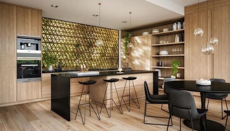 Tổng hợp những thiết kế phòng bếp đẹp hiện đại và sang chảnh-4