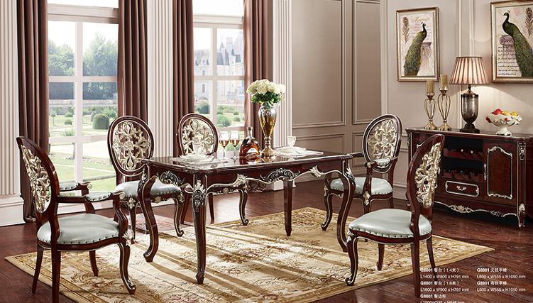 Những bộ bàn ăn phong cách châu Âu đẹp khó cưỡng