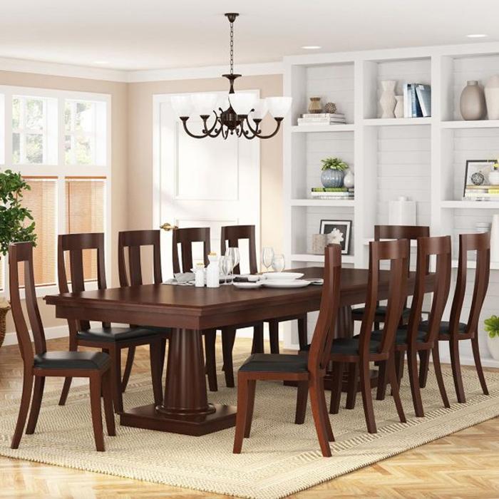 Bàn ăn gỗ gồm 10 ghế