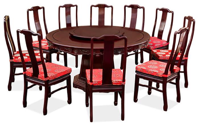 Bàn ăn tròn đặc biệt 10 ghế