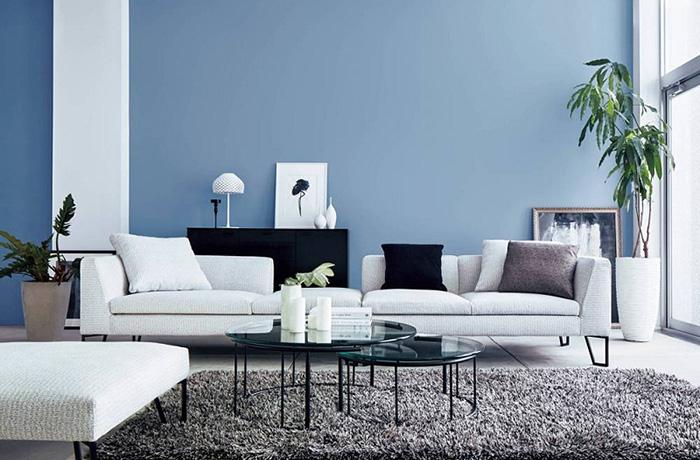 Phối màu sơn đẹp mắt trong không gian phòng khách