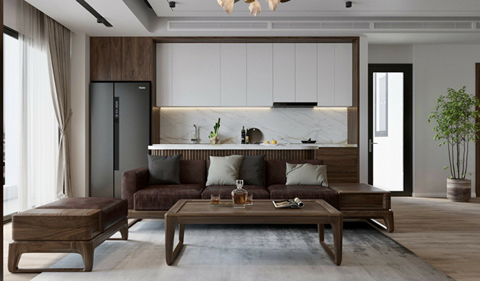 Tủ bếp gỗ Acrylic TB005