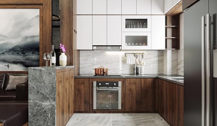 Tủ bếp Acrylic TB006