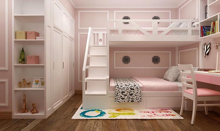 Chọn kích thước giường tầng cho bé an toàn và thoải mái.