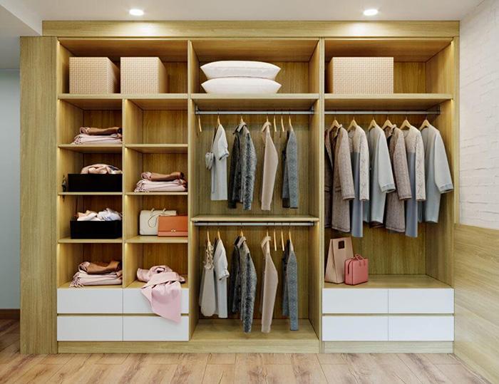 Tủ quần áo nhiều cánh nhiều ngăn