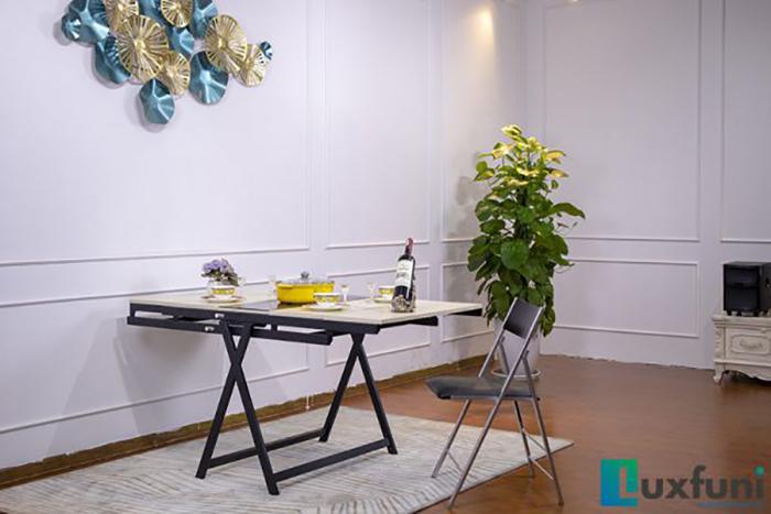 Mua bàn ăn thông minh gỗ MDF