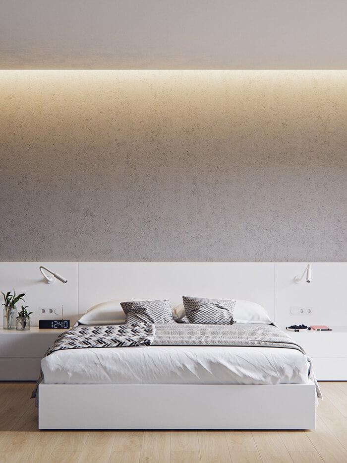 Trang trí mẫu phòng ngủ đẹp phong cách tối giản