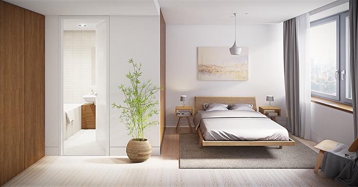 Thiết kế phòng ngủ tối giản đẹp