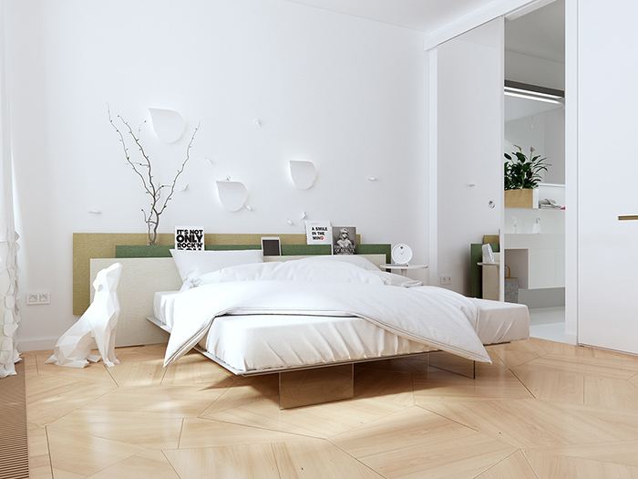 Mẫu phòng tối giản ấn tượng