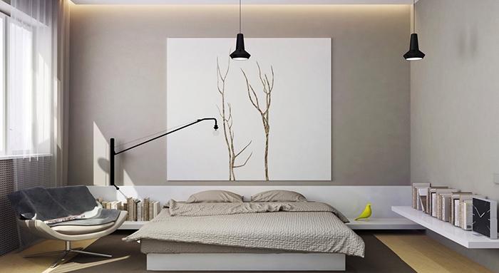 Trang trí phòng tối giản