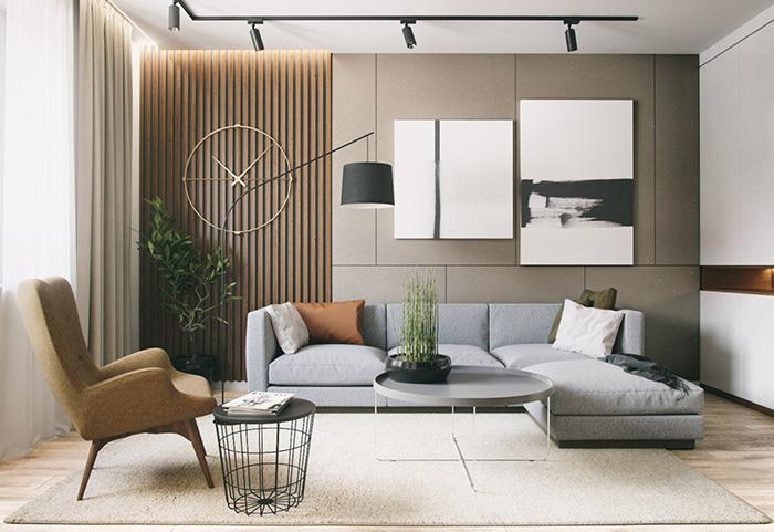 Phòng khách tối giản cực đẹp và hiện đại