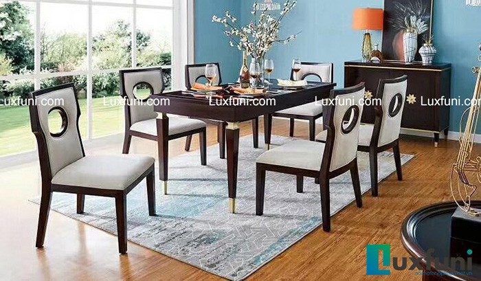 Mẫu bàn ăn đẹp bằng gỗ tự nhiên tạo đẳng cấp cho gia chủ