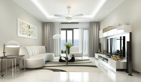 Trang trí phòng khách từ hẹp thành rộng rãi, sang trọng