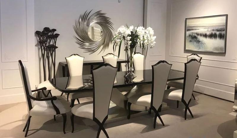 Bàn ghế ăn tân cổ điển cho phòng ăn sang trọng, đẳng cấp